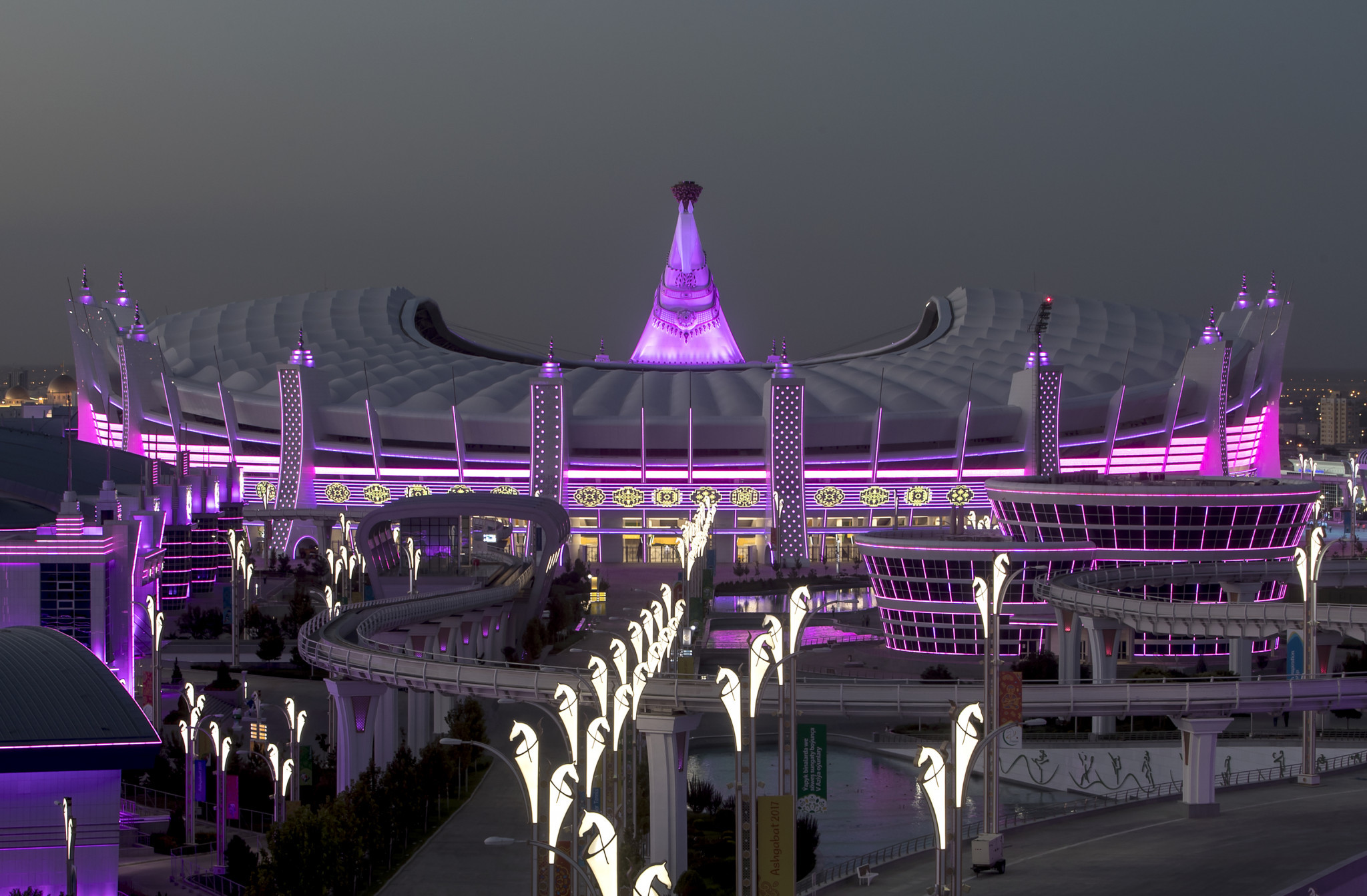 The Ashgabat Olympic Complex is playing host to the 2017 Asian Indoor and Martial Arts Games ©Ashgabat 2017/Angelos Zymaras/Laurel International Management