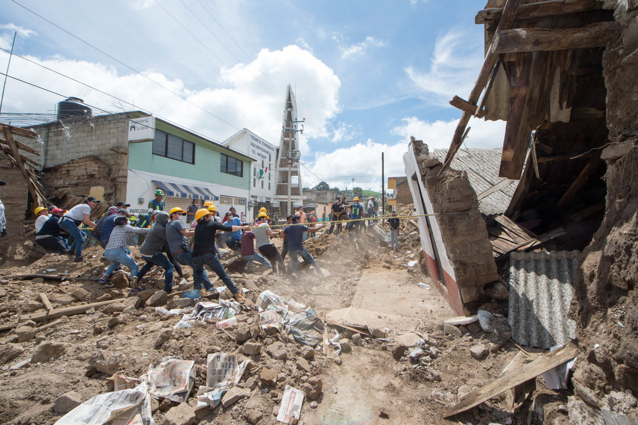 The earthquake has caused widespread damage in Mexico ©Getty Images