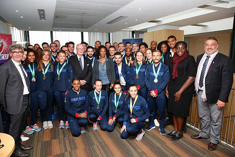 French university students who won medals in Taipei were honoured at receptions in Paris ©French Federation of University Sport