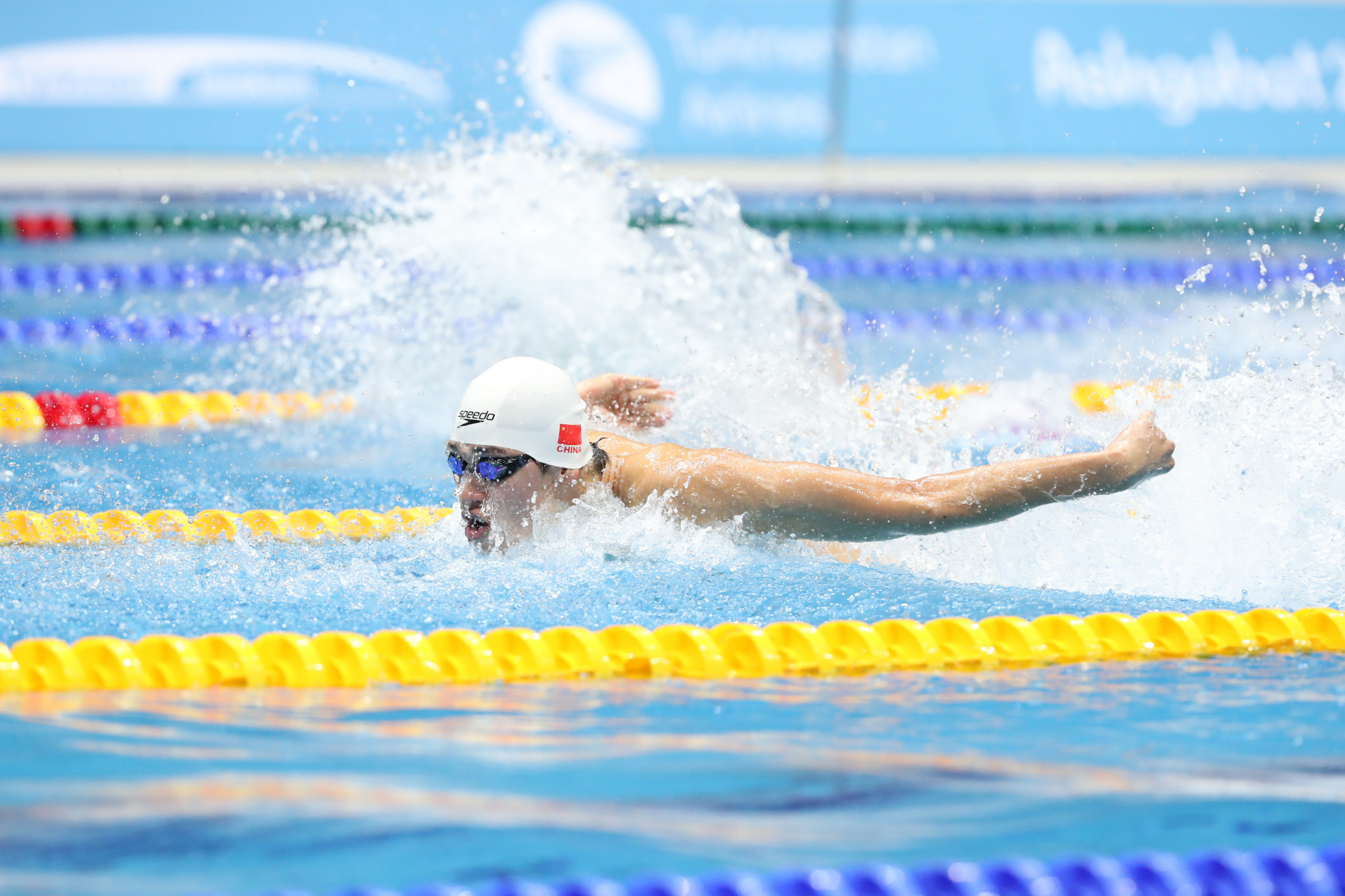 Wang twice breaks 100m breaststroke Games record on first day of Ashgabat 2017 short course swimming