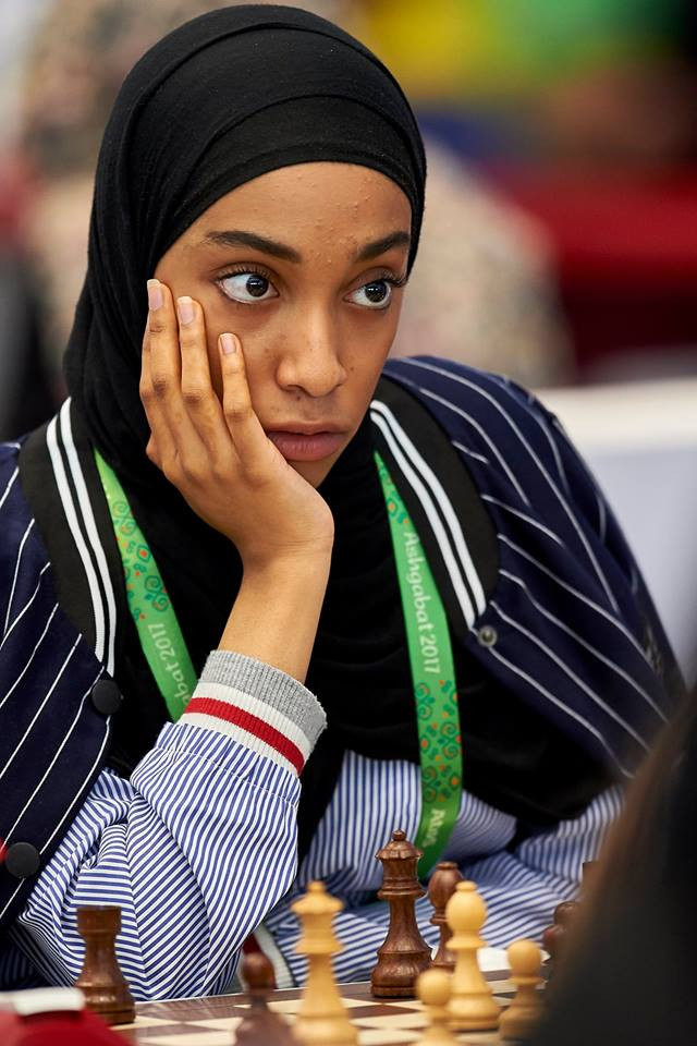 The United Arab Emirates' Wadima Humaid S H Alkalbani was among a number of players in chess action ©Ashgabat 2017/Facebook