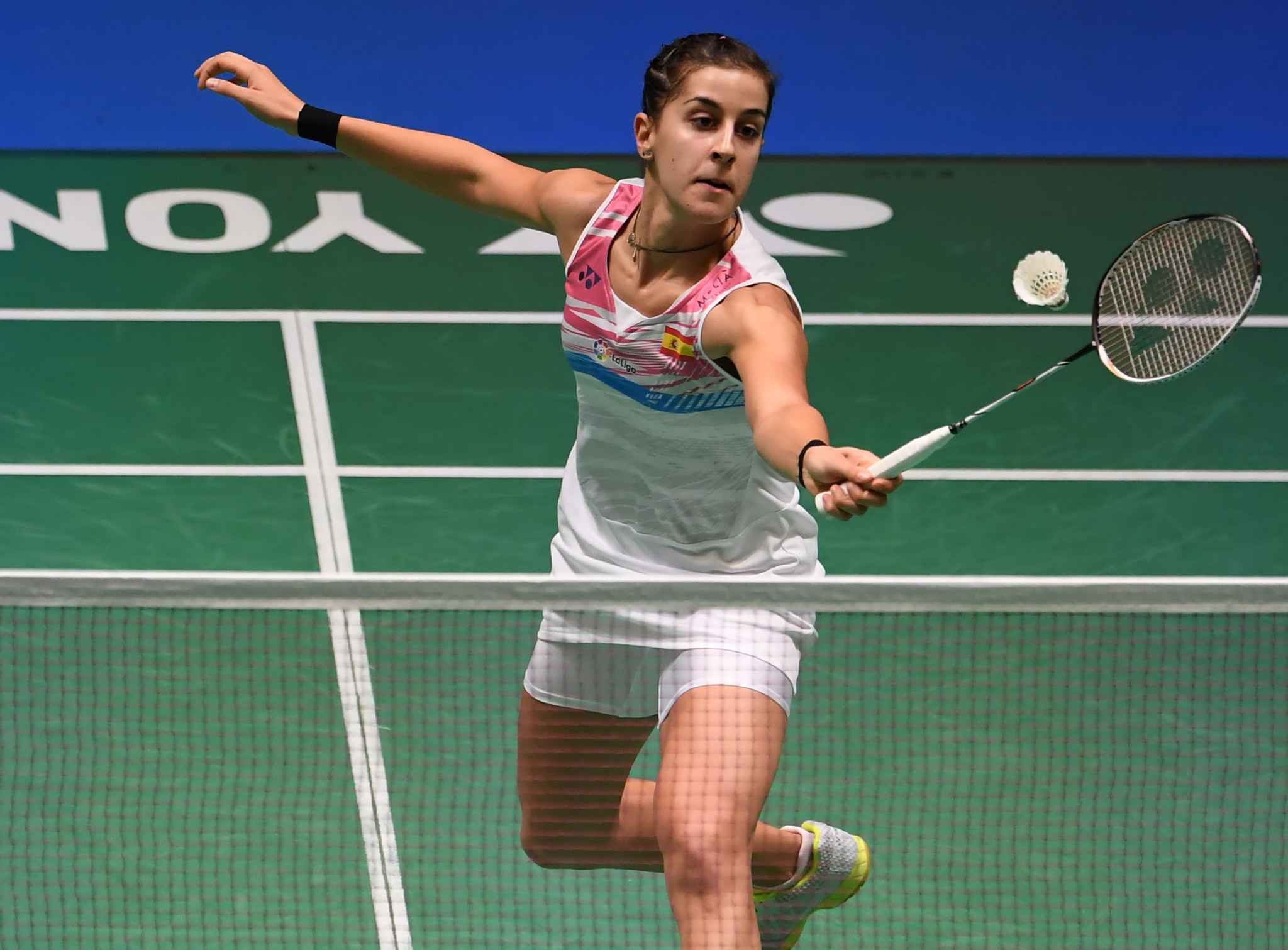 Spain's Carolina Marin advanced to the women's singles final with a walkover win against Japan's Nozomi Okuhara ©Getty Images