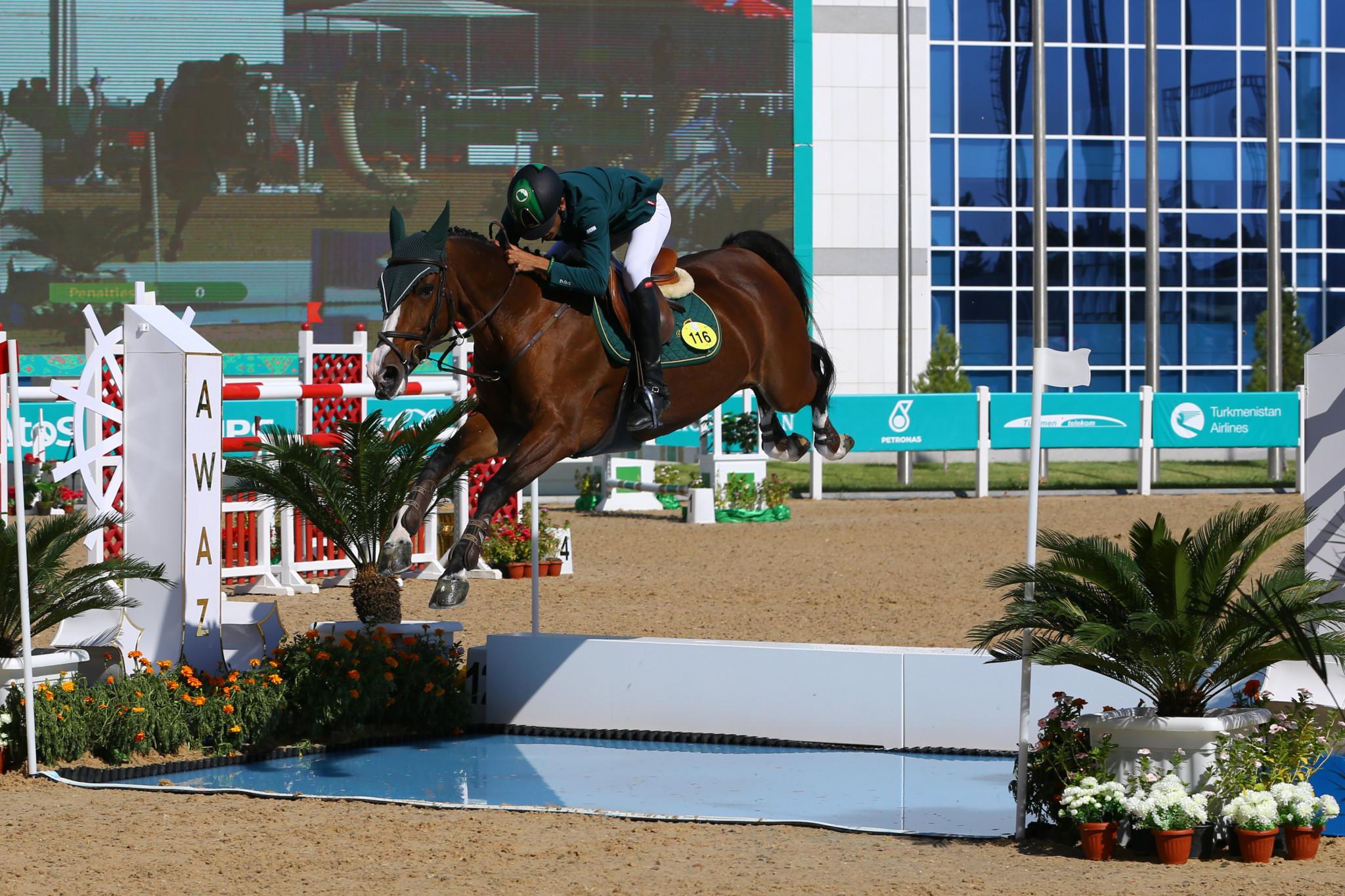 Saudi Arabia's Khaled Abdulrahman S Almobty had to settle for the silver medal ©Ashgabat 2017/Lazaros Koukorikos/LAUREL Photo Services