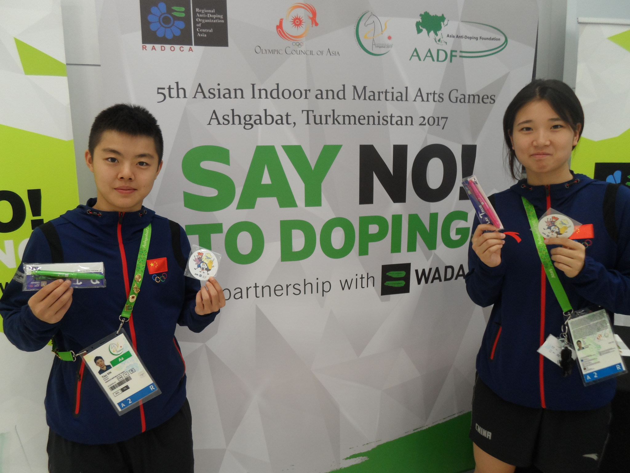 Ashgabat 2017 athletes given opportunity to learn about anti-doping at outreach kiosk
