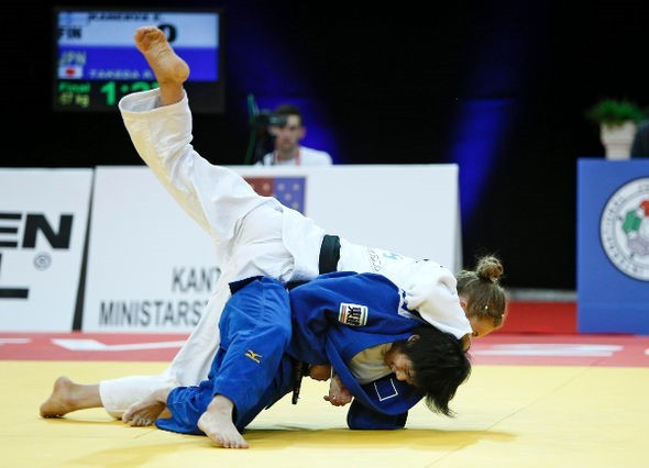 Ryoko Takeda earned Japan's third gold in two days at the Championship © IJF