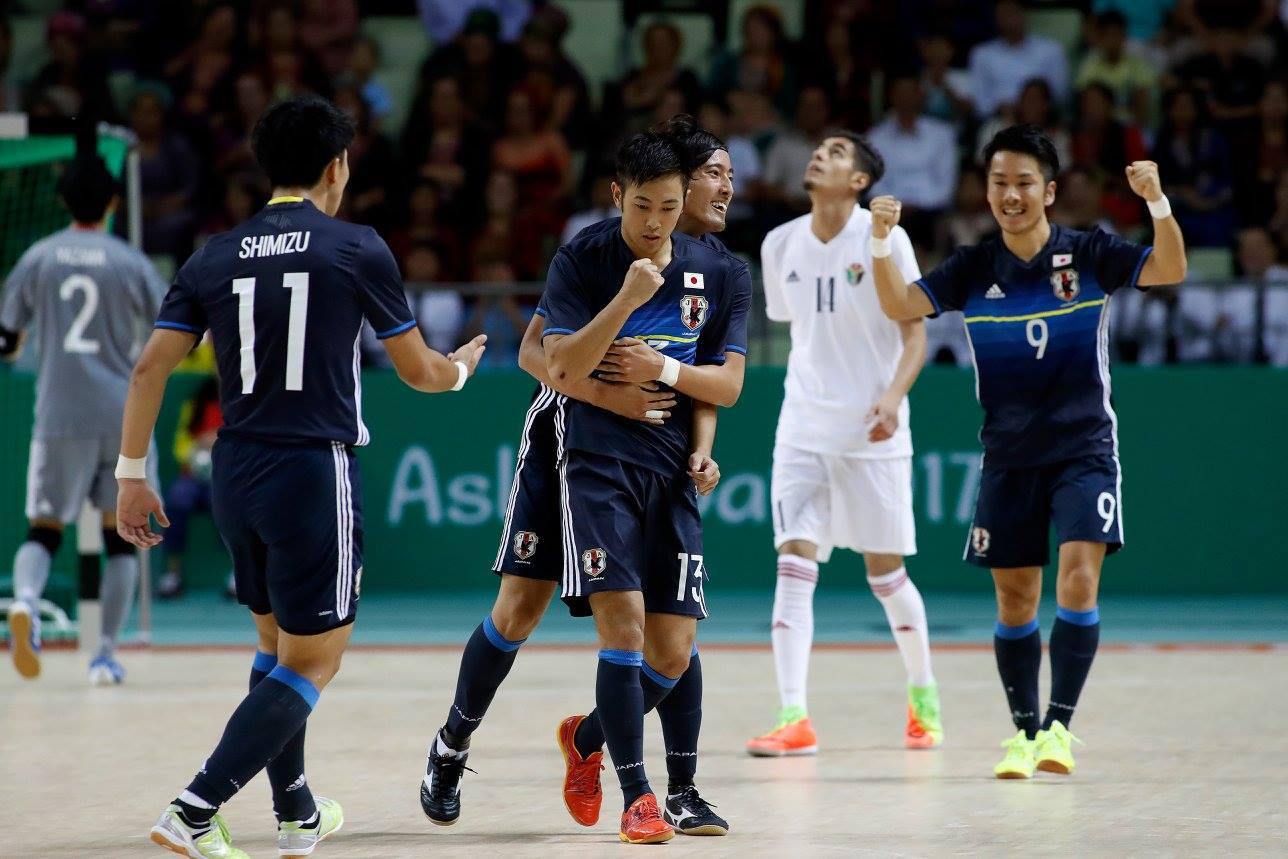 Japan defeated Jordan 4-1 in the quarter-finals of the men's futsal competition ©Ashgabat 2017/Facebook