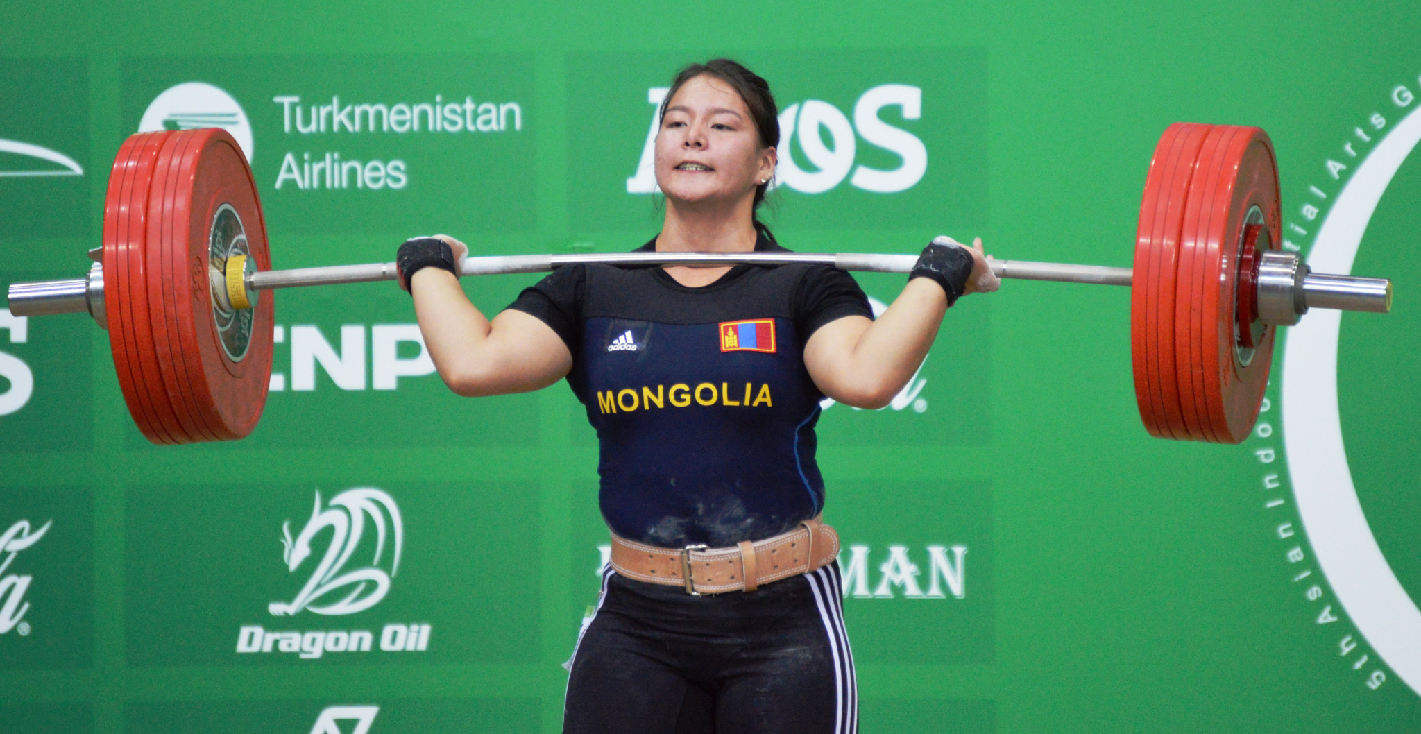 Mongolia's Ankhtsetseg Munkhjantsan triumphed in the women's 75kg category ©OCA