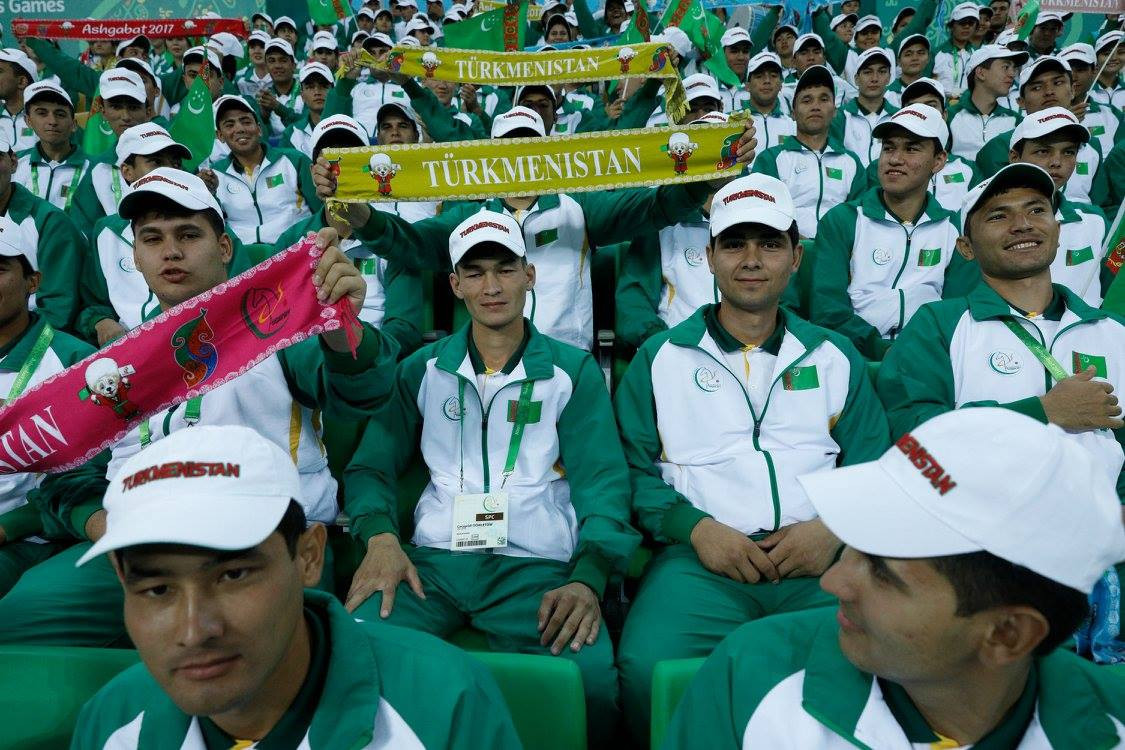 The home supporters were out in force today to cheer on the Turkmenistan athletes ©Ashgabat 2017/Facebook