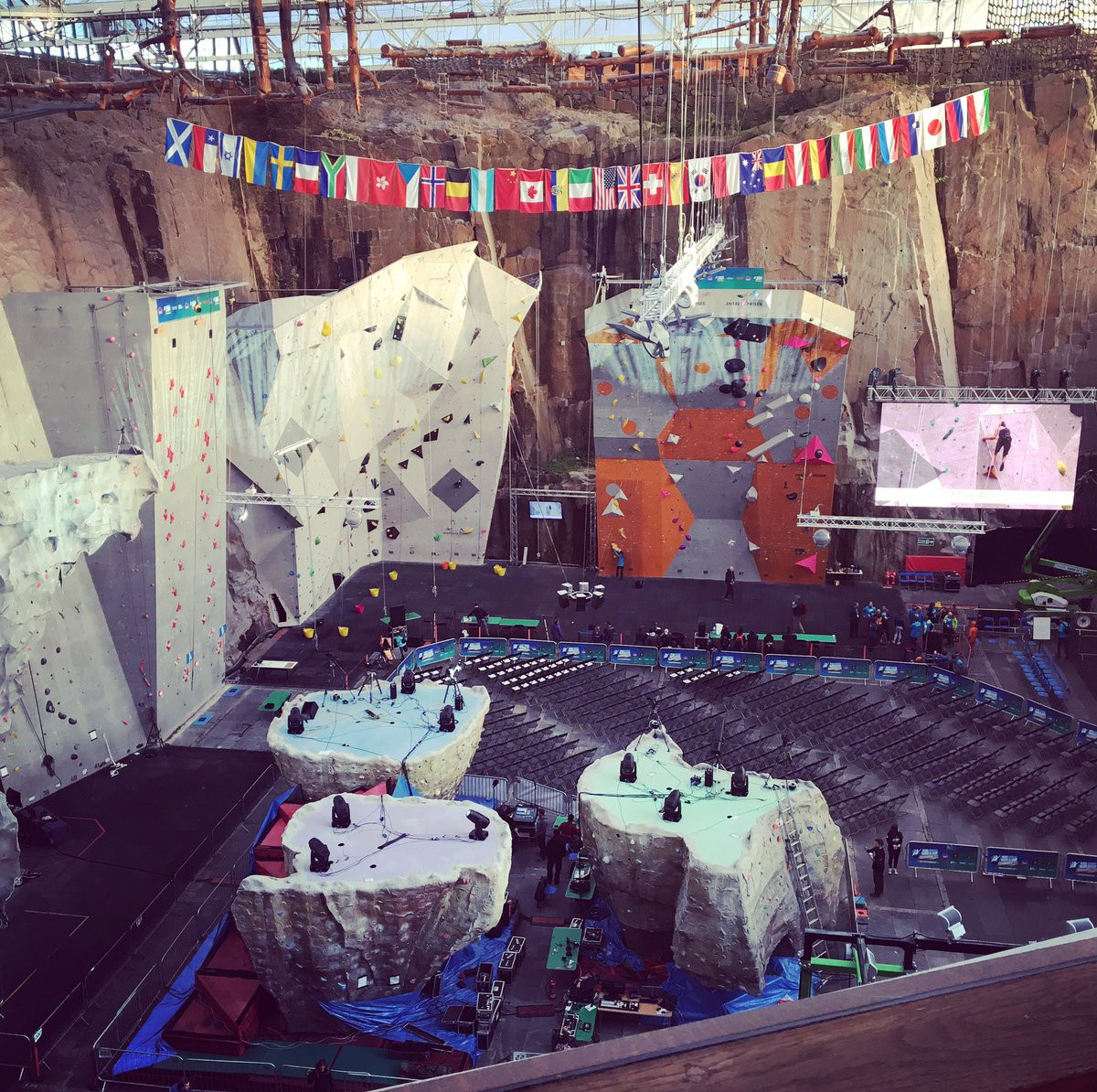 The Edinburgh International Climbing Arena, where this weekend's IFSC Lead and Speed World Cup event is taking place ©Twitter