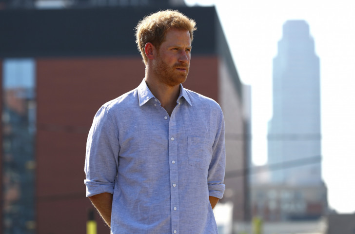 Prince Harry attends the Driving Challenge in Toronto today ahead of the Invictus Games Opening Ceremony ©Getty Images