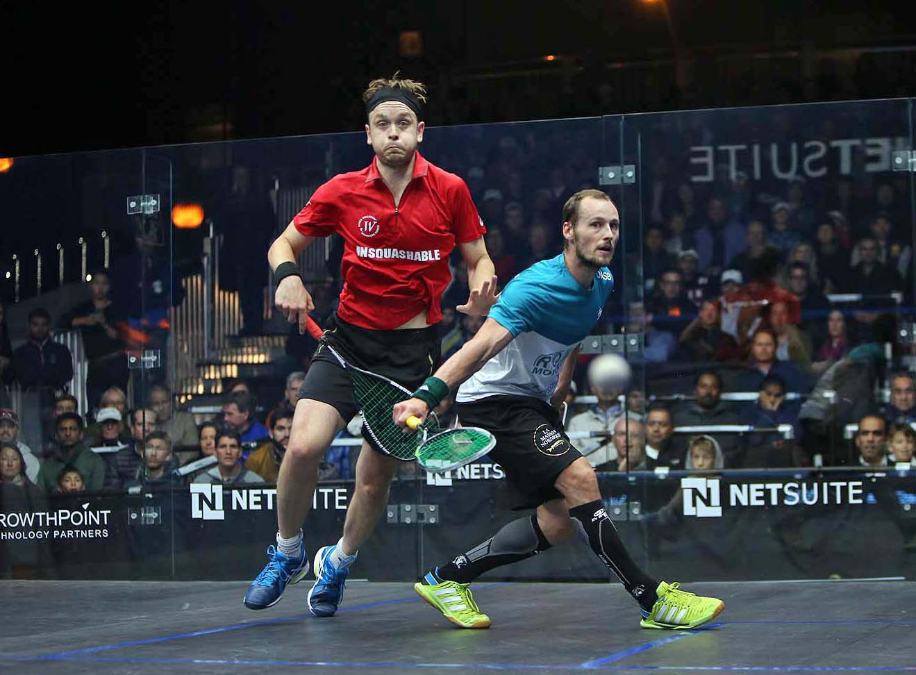 Gregory Gaultier, right, who has had to withdraw from the Oracle NetSuite Open due to an ankle injury ©PSA