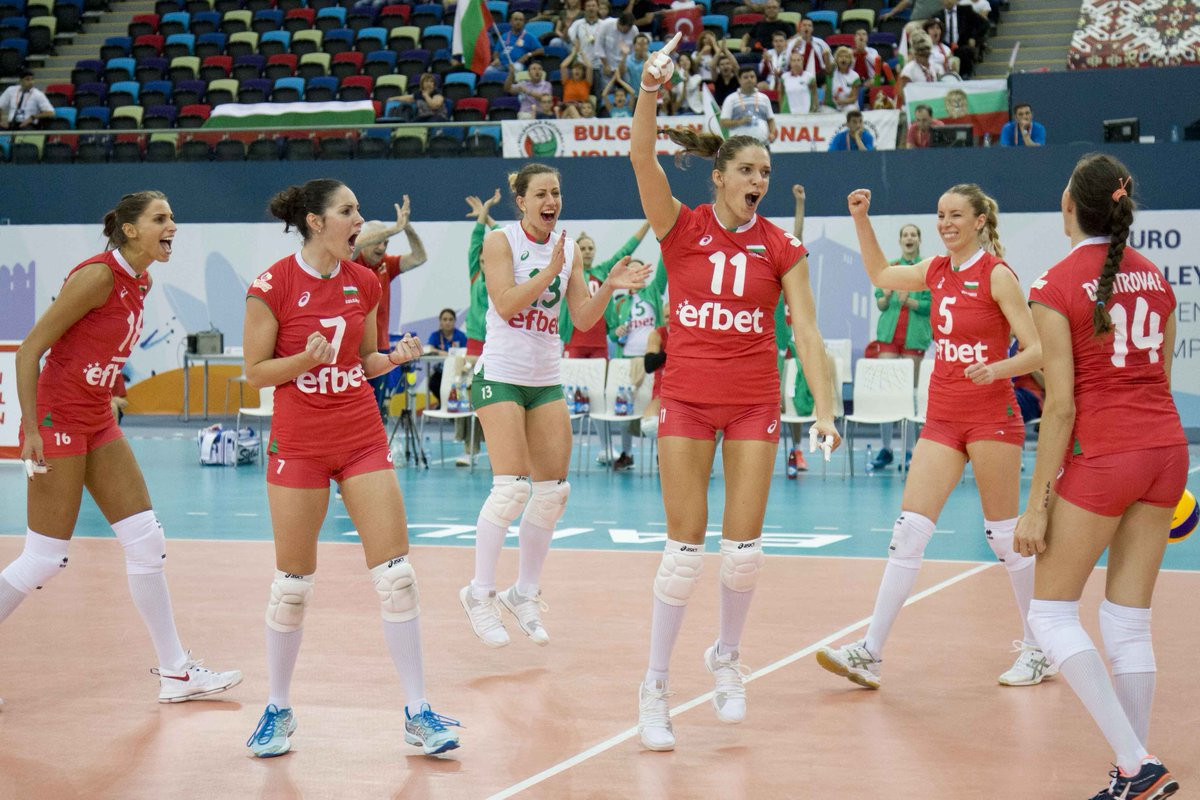 Bulgaria battle to dramatic win over Turkey at Women's European Volleyball Championships