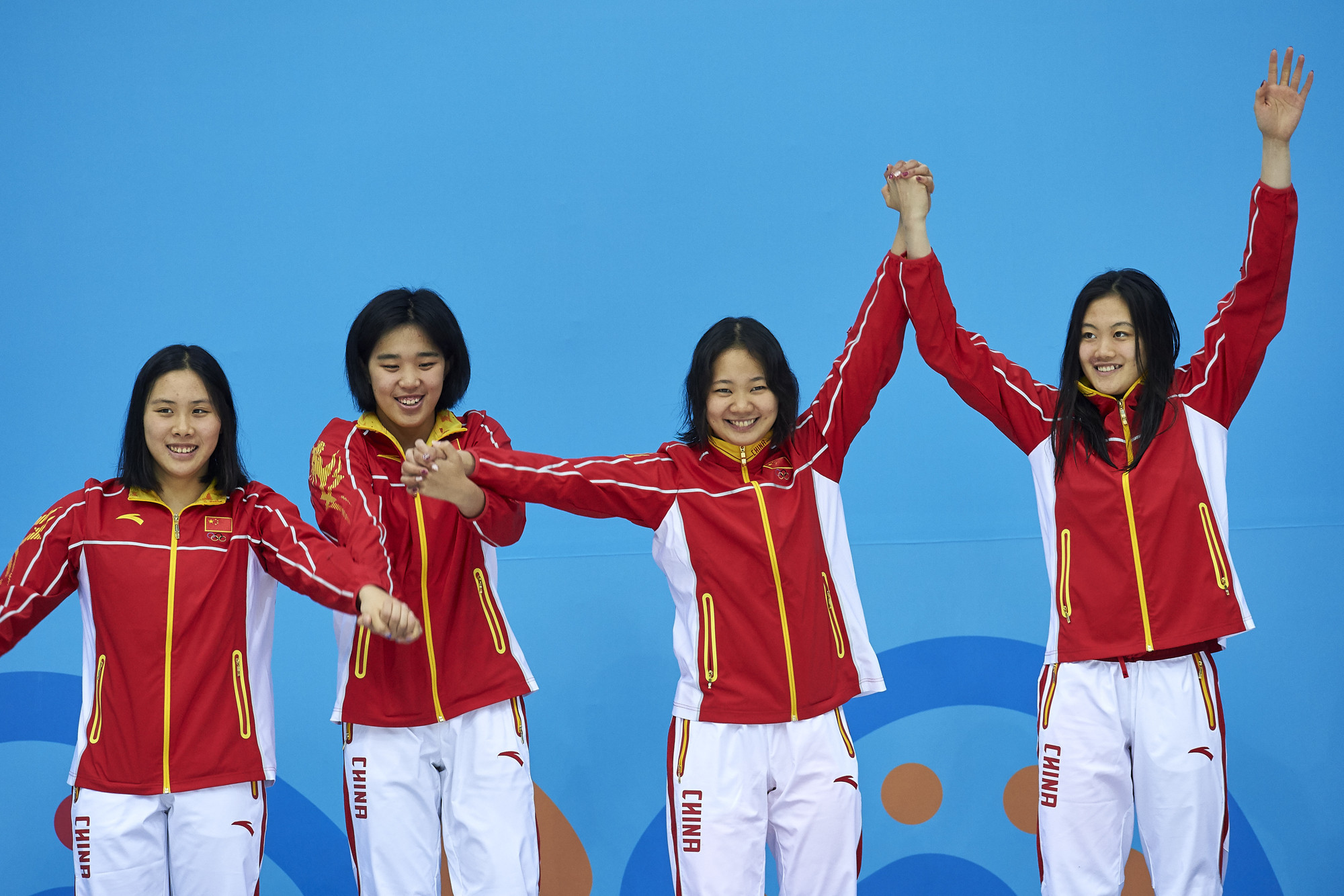 One of China's three short course swimming gold medals today came in the women's 4x50 metres freestyle relay ©Ashgabat 2017/Nikita Bossav/Laurel Photo Services