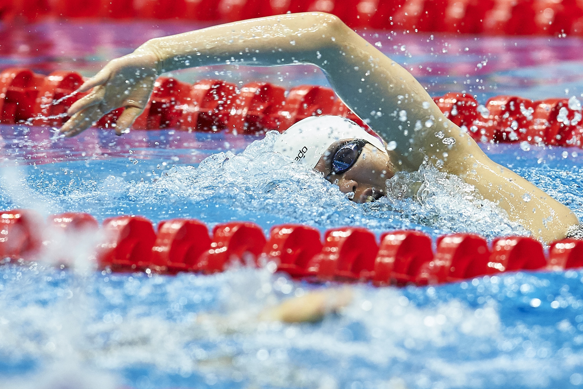 China's Sun Meichen smashed the women's 200m freestyle Games record ©Ashgabat 2017/Adam Nurkiewicz/Laurel Photo Services