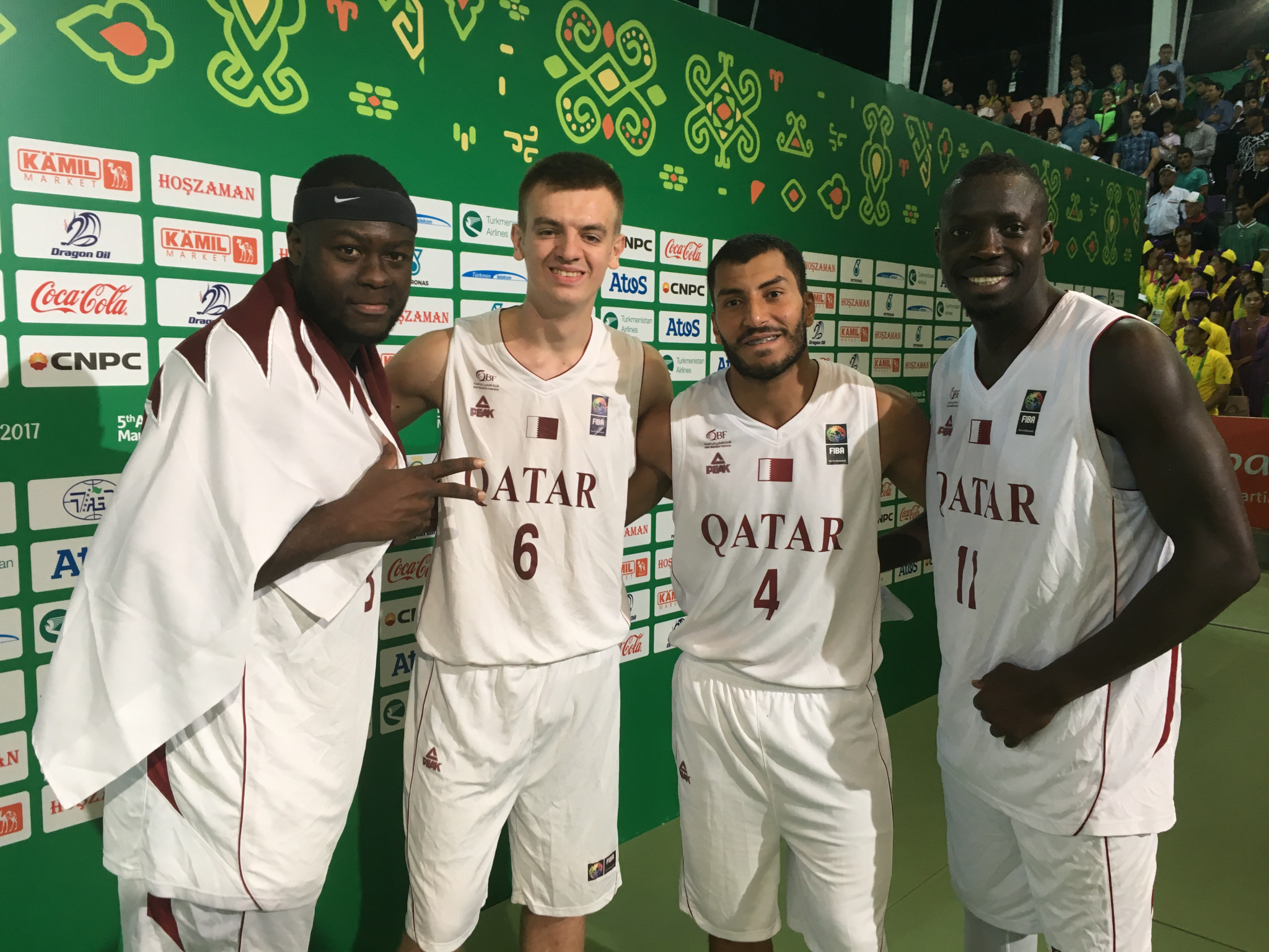 Qatar won the men's 3x3 basketball title on day nine of the 2017 Asian Indoor and Martial Arts Games in Ashgabat ©Ashgabat 2017/Michael Church