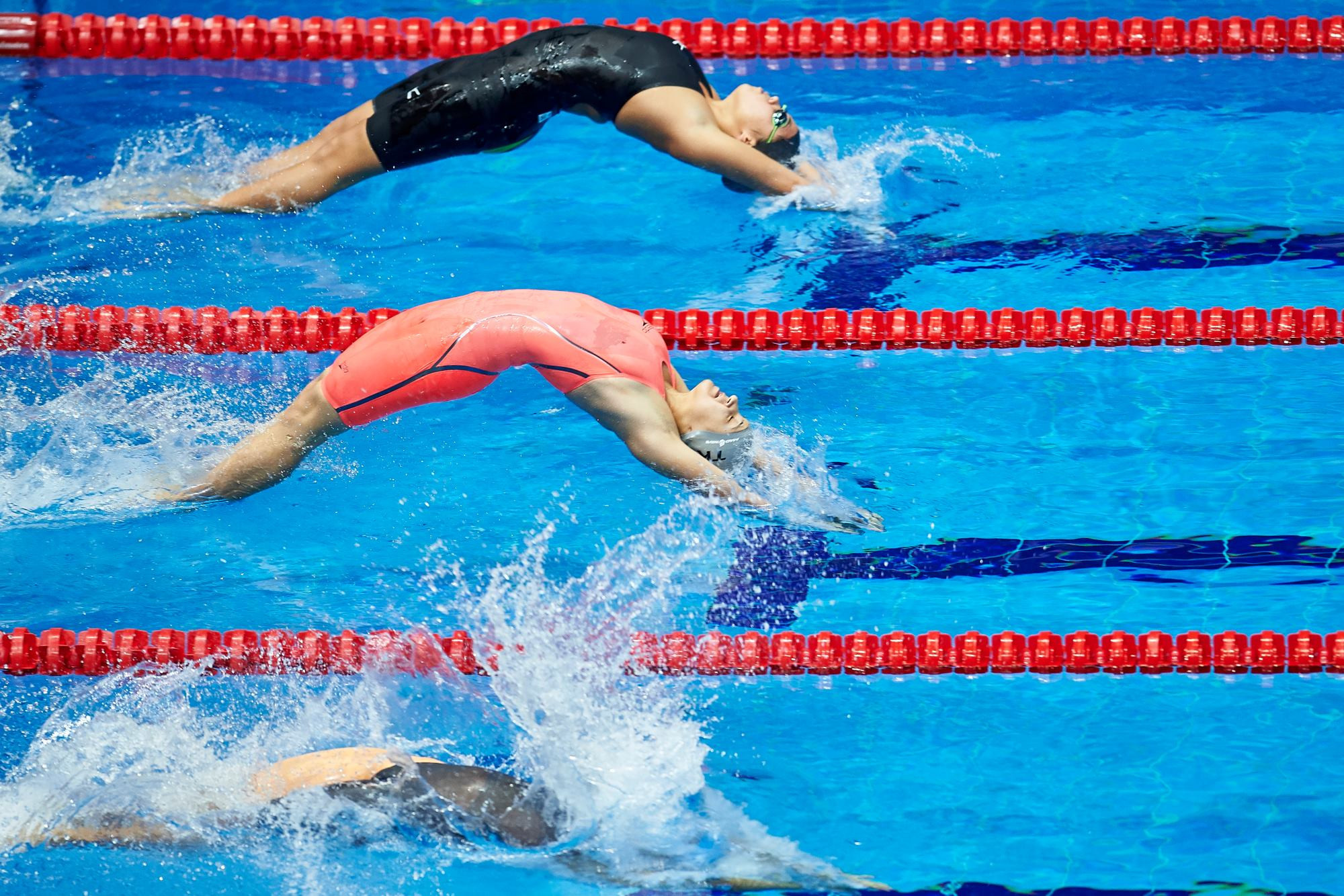 The women's 100 metres backstroke was one of eight short course swimming events held today ©Ashgabat 2017/Facebook