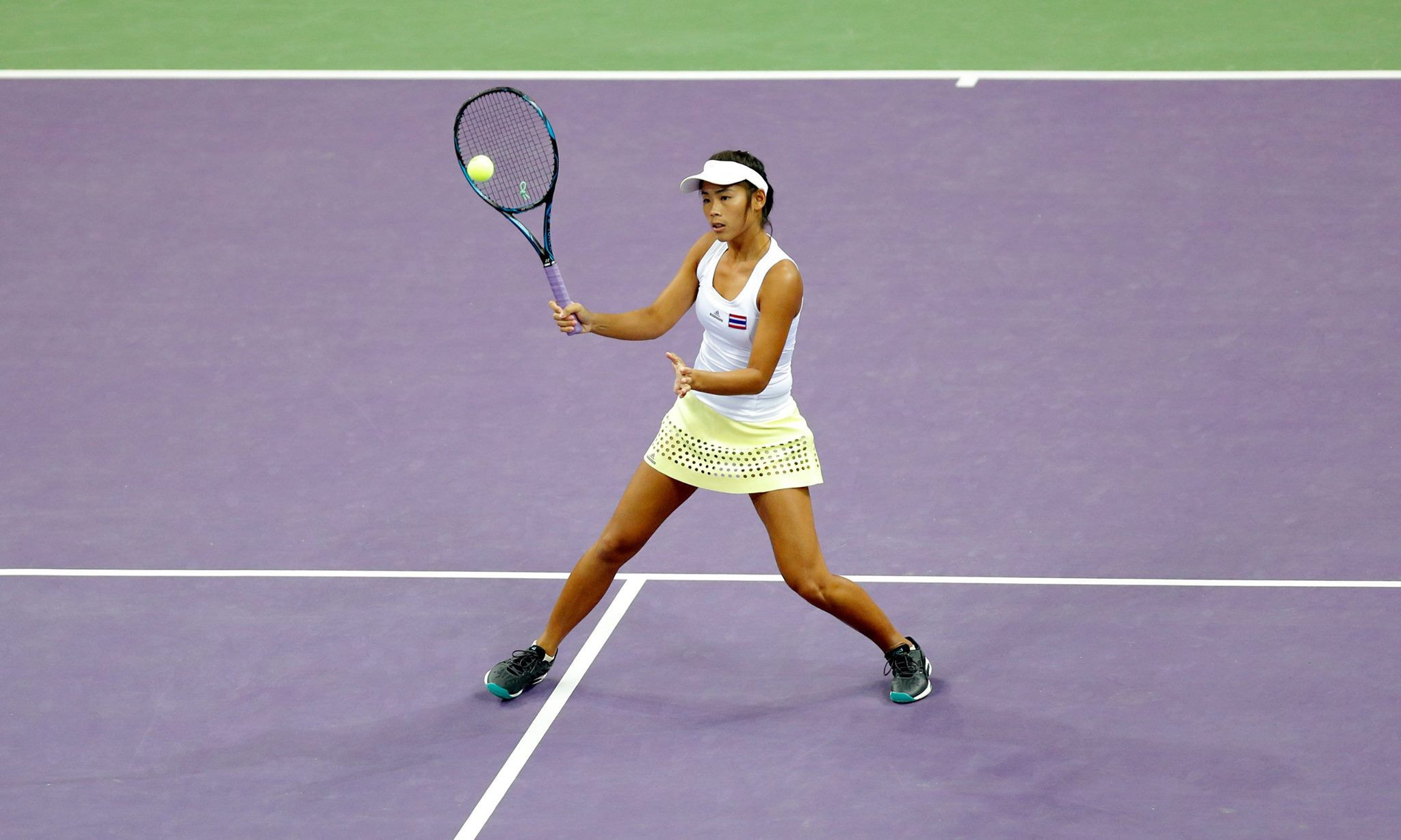 Thailand's Patcharin Cheapchandej lost her women's singles indoor tennis semi-final to Indonesia's Aldila Sutjiadi ©Ashgabat 2017/Facebook