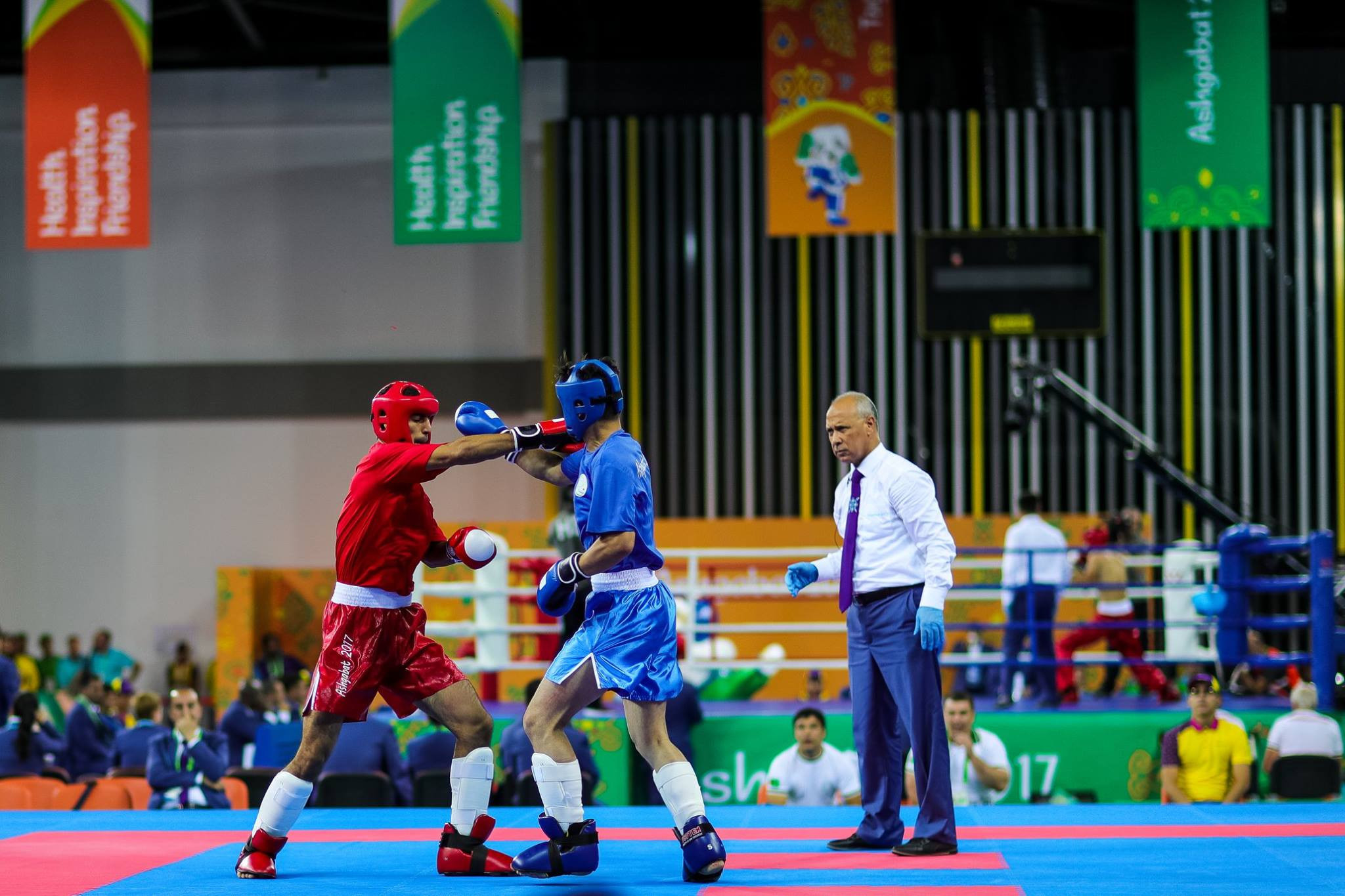 Medals were awarded on the second day of kickboxing action ©Ashgabat 2017/Facebook