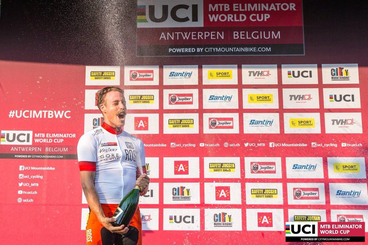 Gegenheimer clinches men's Mountain Bike Eliminator World Cup in Antwerp