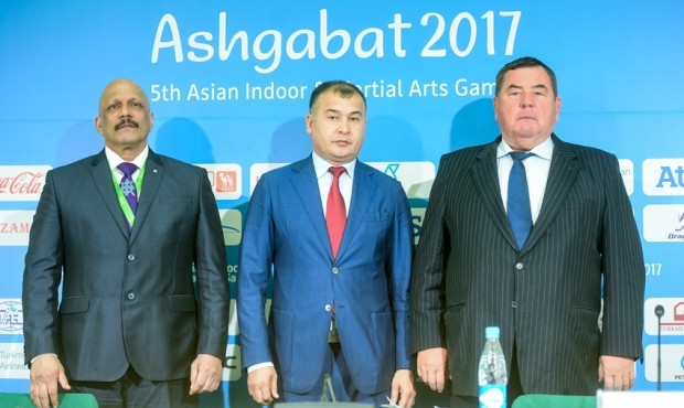 FIAS President Vasily Shestakov, right, was speaking on the sidelines of the 2017 Asian Indoor and Martial Arts Games in Turkmenistan's capital ©FIAS