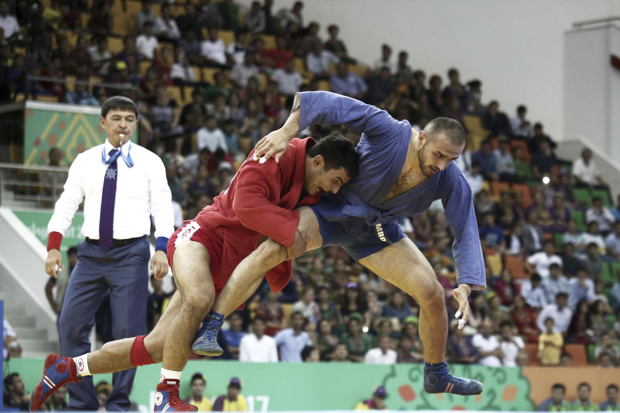 Sambo competition begun yesterday at the 2017 Asian Indoor and Martial Arts Games ©Ashgabat 2017/Lazaros Koukorikos/Laurel International Management