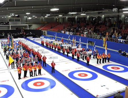 The Stratford Rotary Complex played host to last year's Canadian Junior Men's and Women's Championships ©Curling Canada