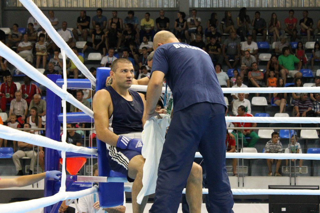 Bulgaria's Tervel Pulev began his campaign with a comfortable victory ©AIBA