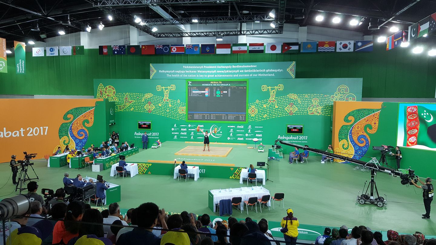 Today was the last day of weightlifting competition at Ashgabat 2017 ©ITG