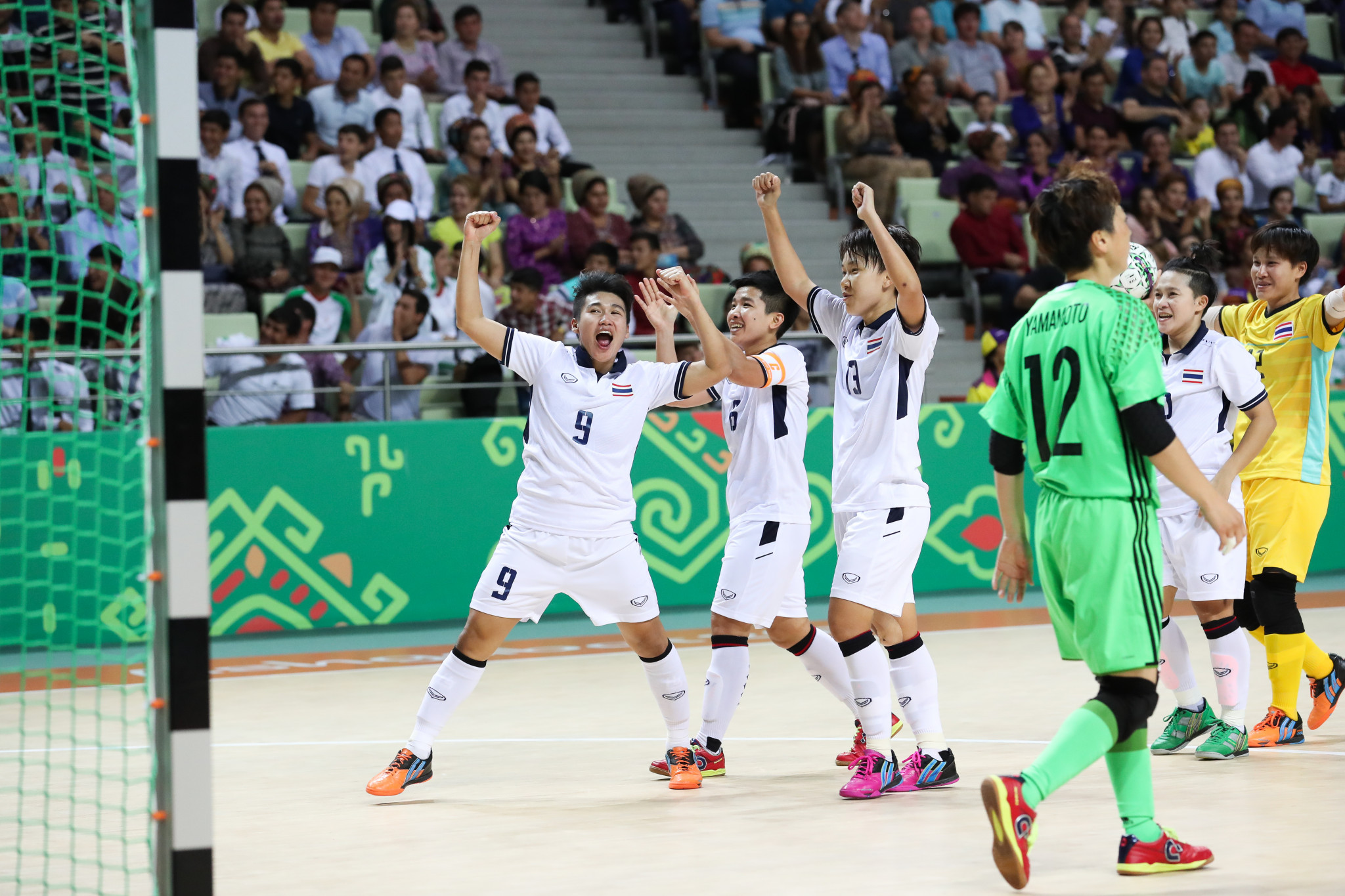 Thailand claimed the women's futsal title on day 10 of the 2017 Asian Indoor and Martial Arts Games ©Ashgabat 2017/Nikita Bassov/Laurel International Management