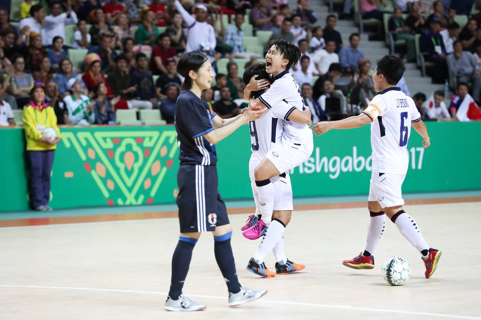 Thailand beat Japan 3-1 in the women's futsal final on day 10 of the 2017 Asian Indoor and Martial Arts Games ©Ashgabat 2017/Facebook