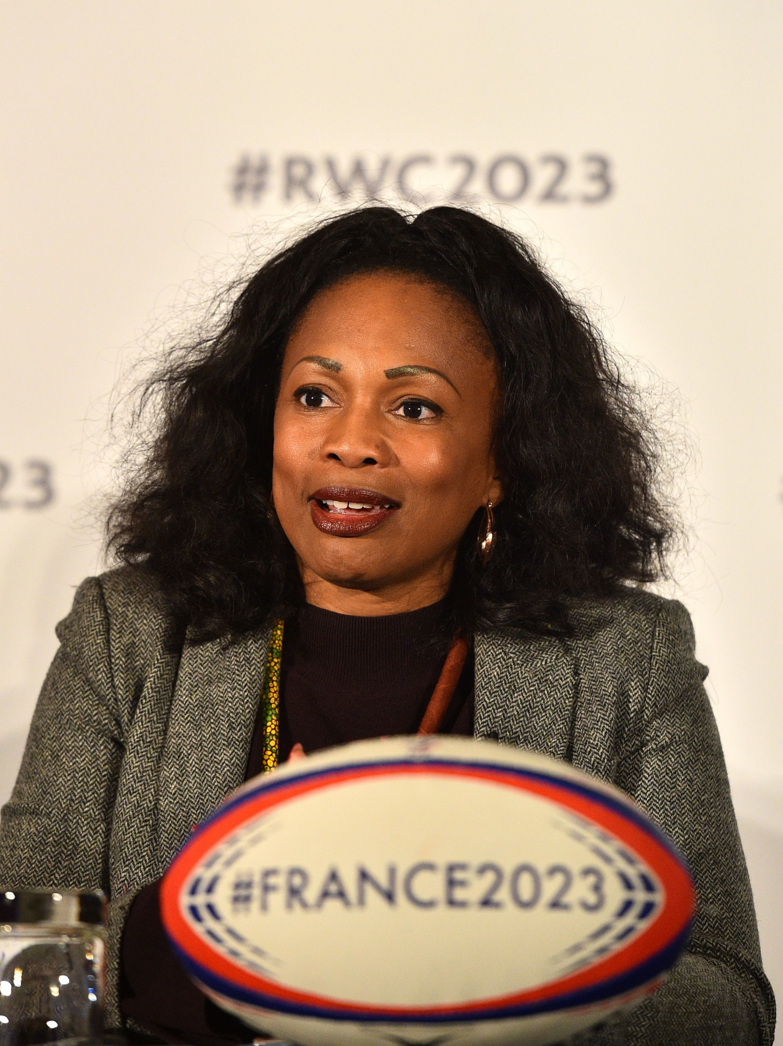 French Sports Minister Laura Flessel led her country's delegation who were making a presentation in London to host the 2023 Rugby World Cup for the third time ©Getty Image