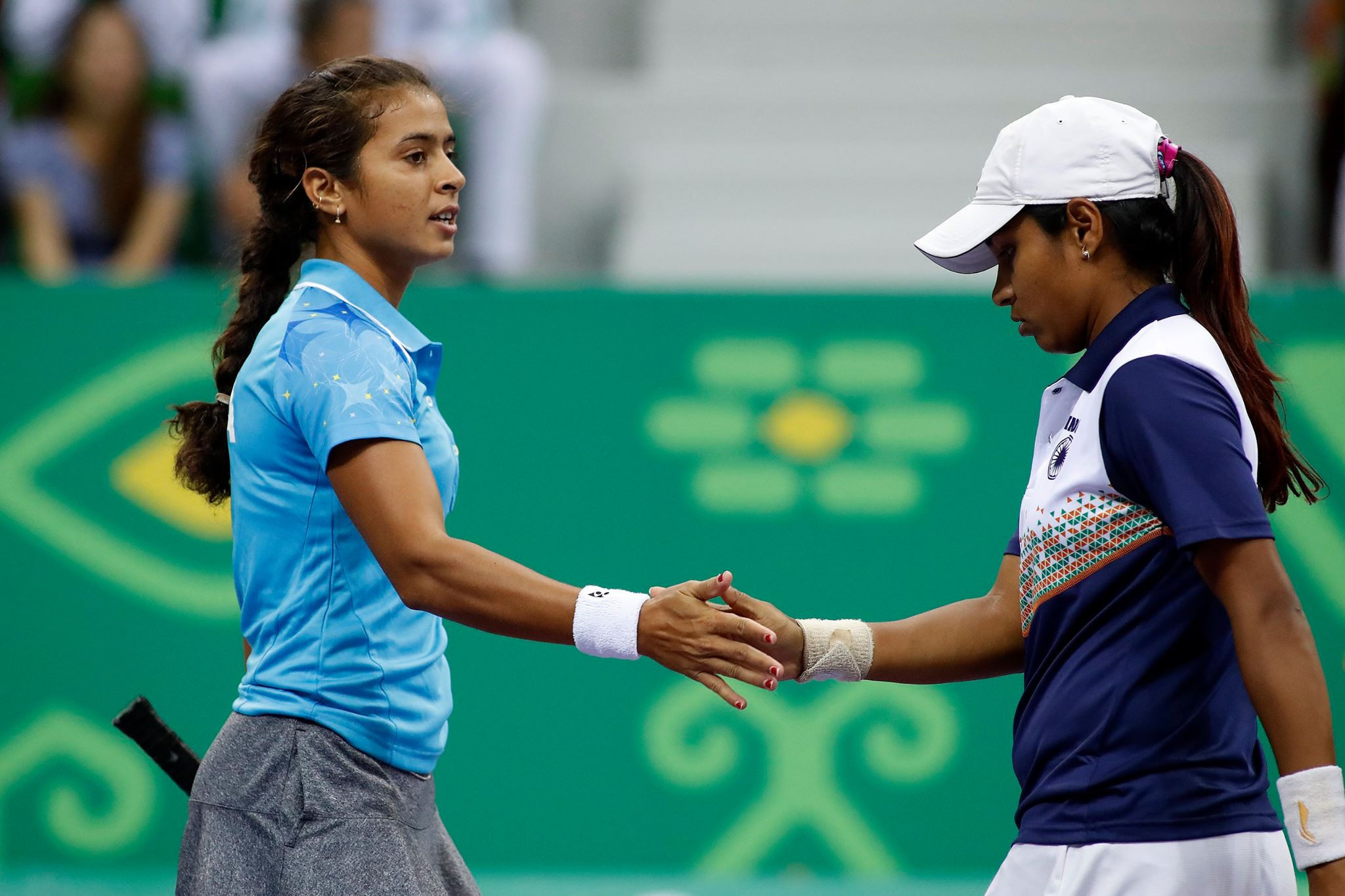 India's Ankita Raina and P. Thombare overcame Indonesia's Jessy Rompies and Lavinia Tananta in the women's doubles indoor tennis semi-finals ©Ashgabat 2017/Facebook