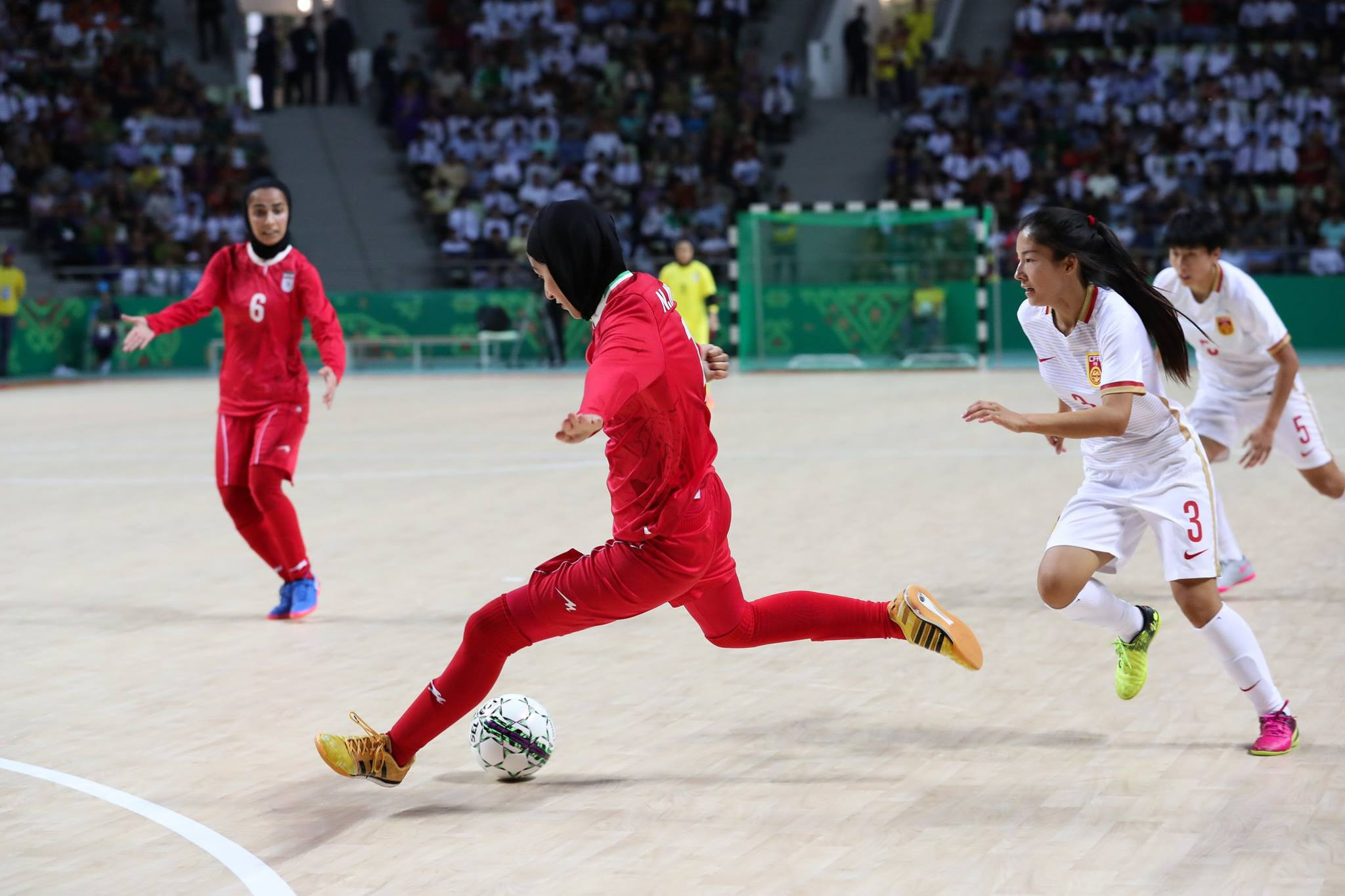 Iran beat China 5-1 in the women's futsal bronze medal match ©Ashgabat 2017/Facebook