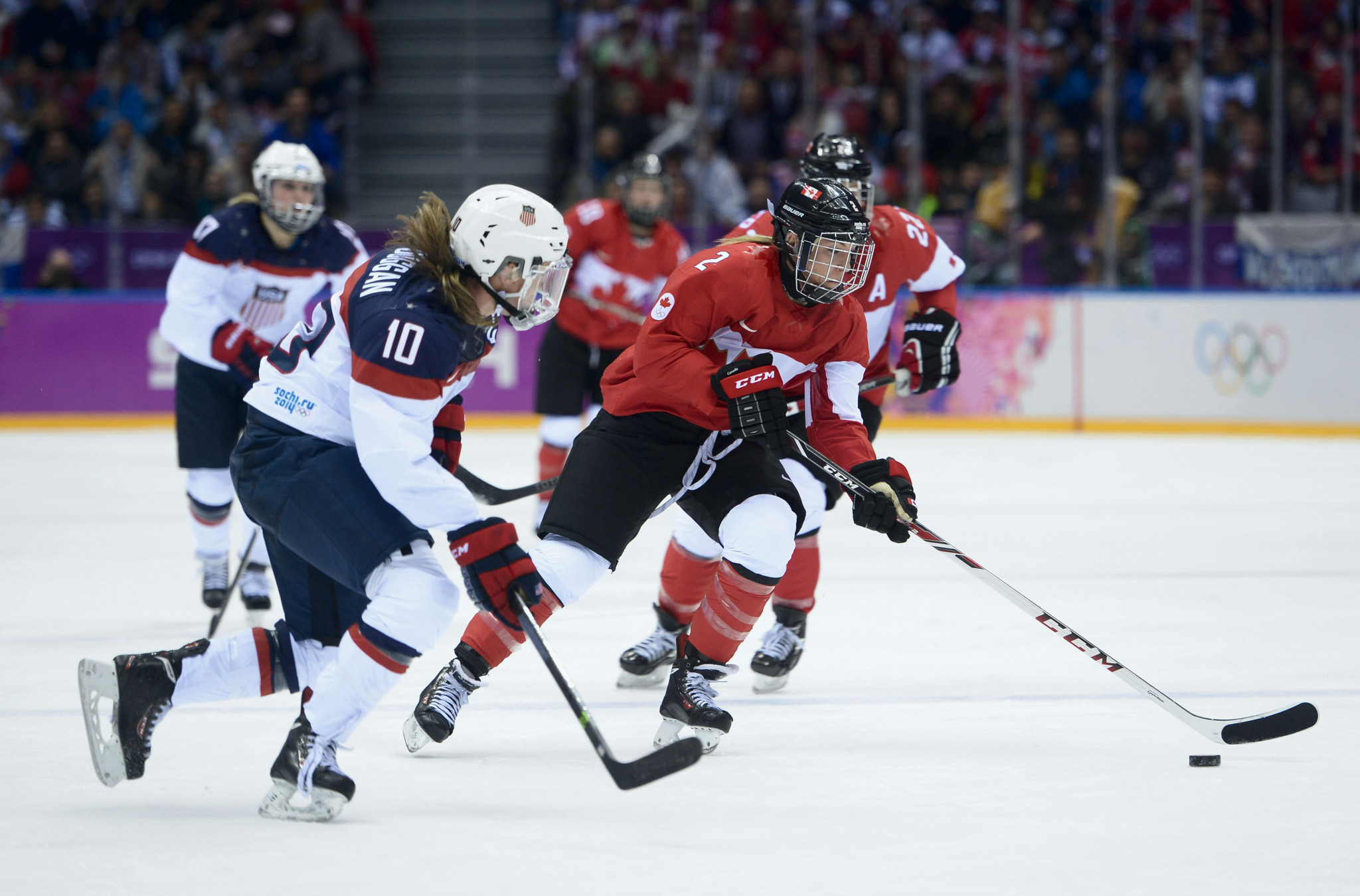 Canada's women's team will be looking to retain their Olympic crown ©Getty Images
