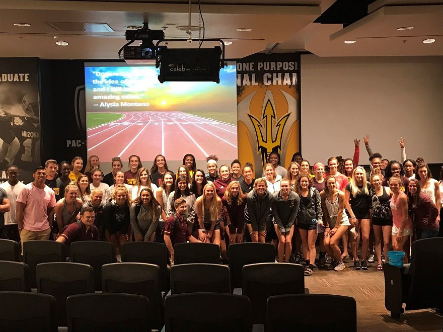 USADA has delivered an educational programme to athletes, coaches and support personnel at Arizona State University ©USADA