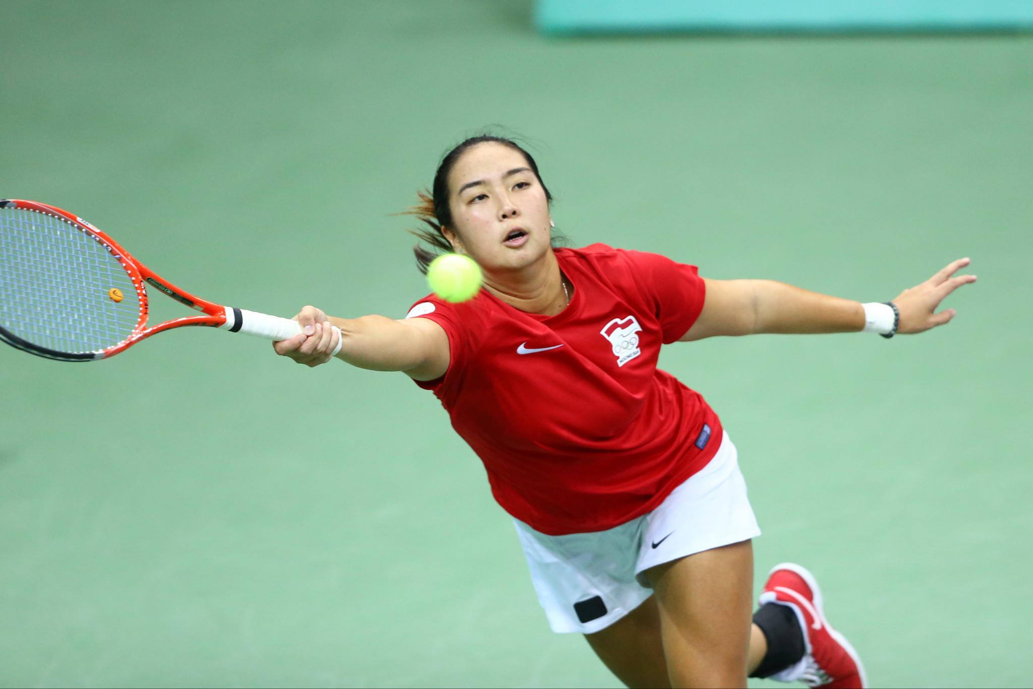 Gumulya wins all-Indonesian women's singles indoor tennis ...