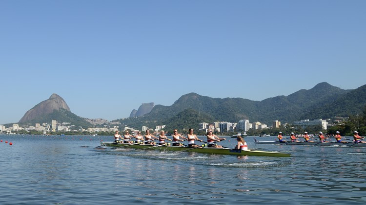 Germany win five gold medals as Rio 2016 rowing course tested at World Junior Championships