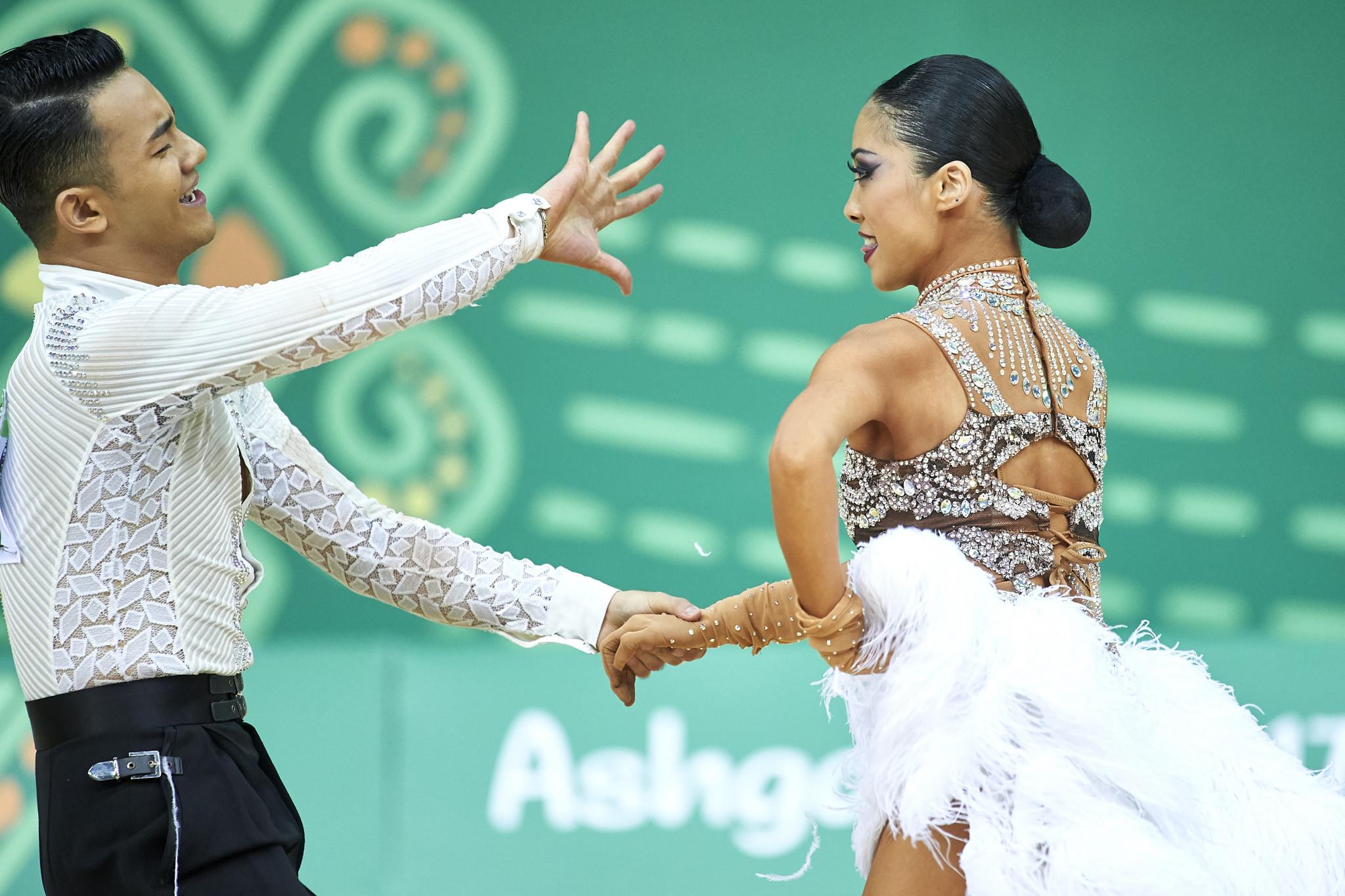 China's Yan Bangbang and Zhu Jing won the paso doble title on the final day of dancesport competition ©Ashgabat 2017/Adam Nurkiewicz/Laurel Photo Services