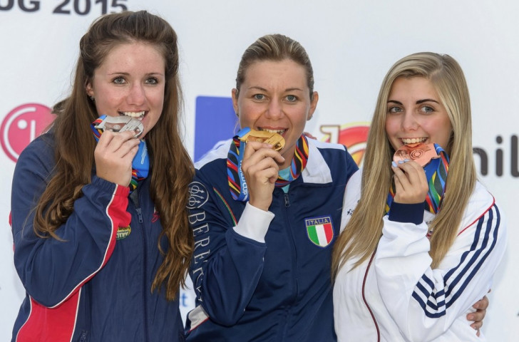 Katiuscia Spada claimed the first gold medal of the last ISSF World Cup event of the season by winning the women's skeet competition ©ISSF