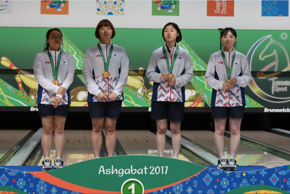 South Korea came out on top in the women's team of four competition ©Ashgabat 2017/Nassos Triantafyllou/Laurel Photo Services