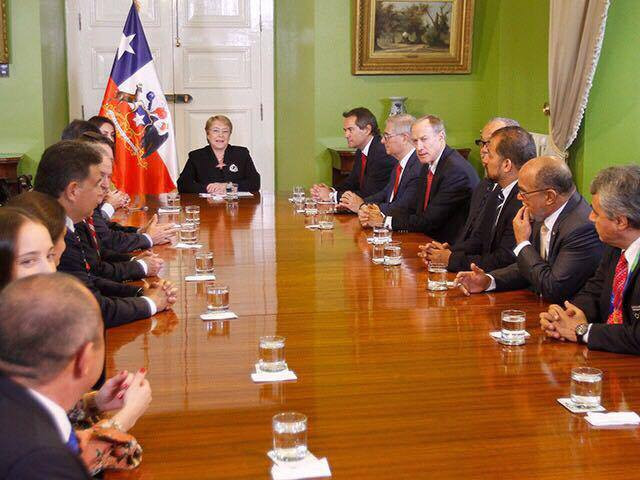 PASO inspectors meet with Chilean President to assess Santiago bid for 2023 Pan American Games