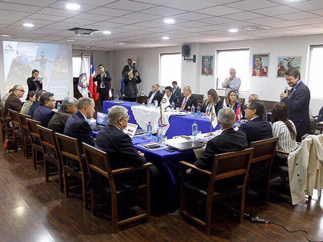 Santiago bidding officials also presented their plans to the PASO officials ©PASO