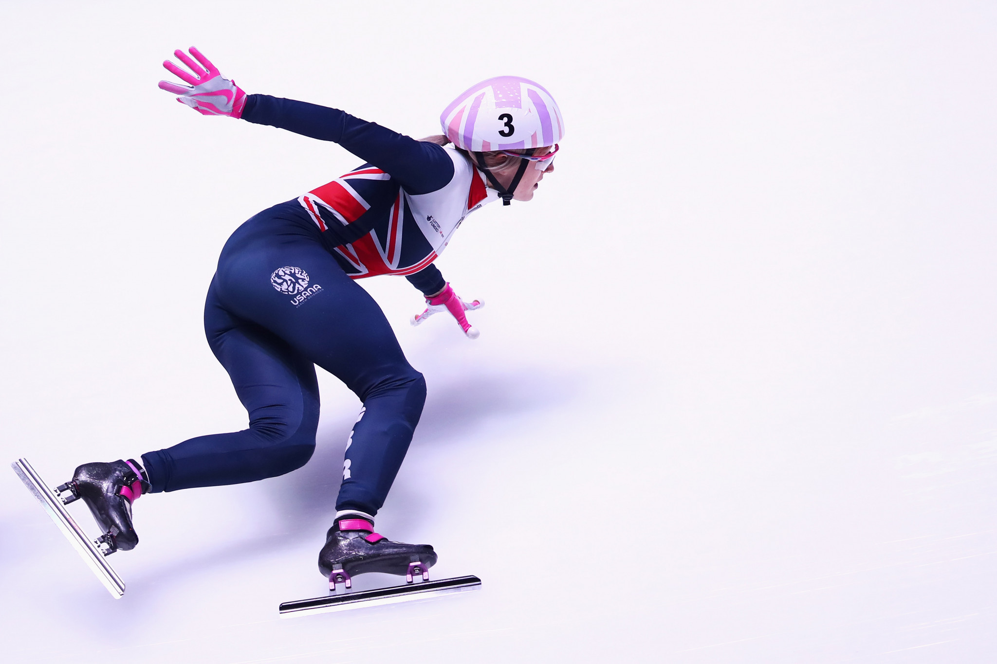 Elise Christie, the dominant force in women's short track recently, will also be in action in the Hungarian capital ©Getty Images