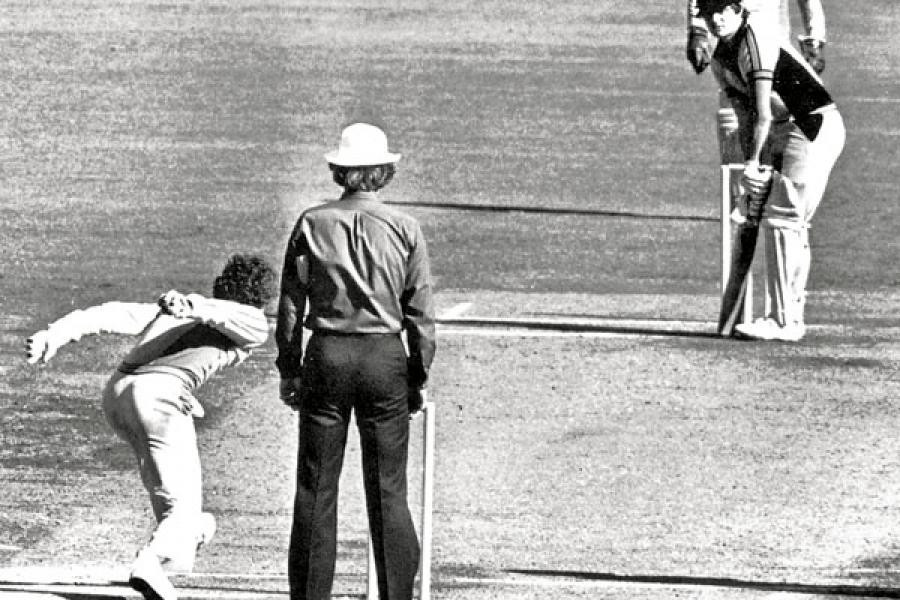 Australia's Trevor Chappell caused a political row when he bowled the last ball of a one-day international against New Zealand underarm to stop them scoring the six runs they required ©Getty Images