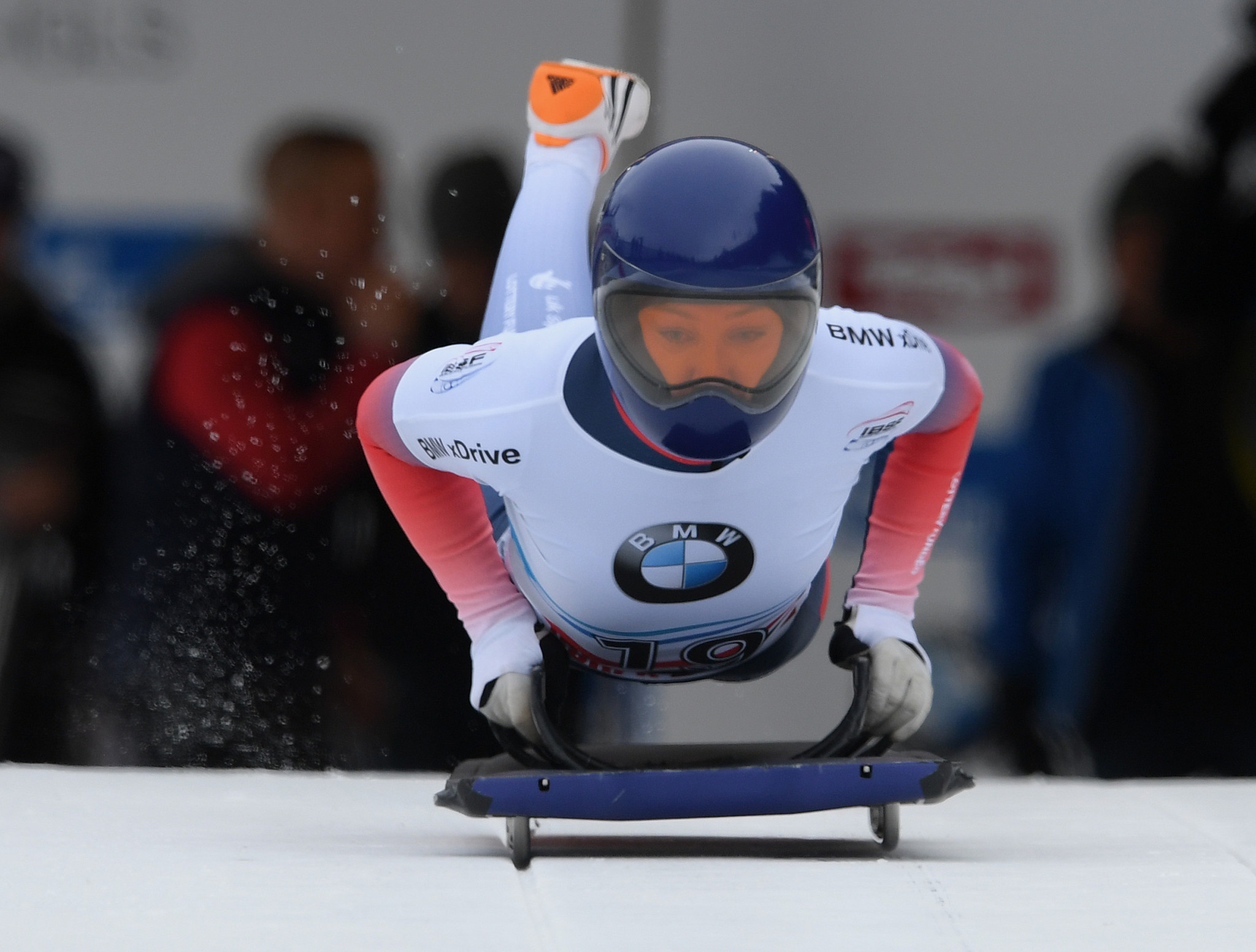 Donna Creighton, who switched from skeleton to bobsleigh, is also trying to raise funds ©Getty Images