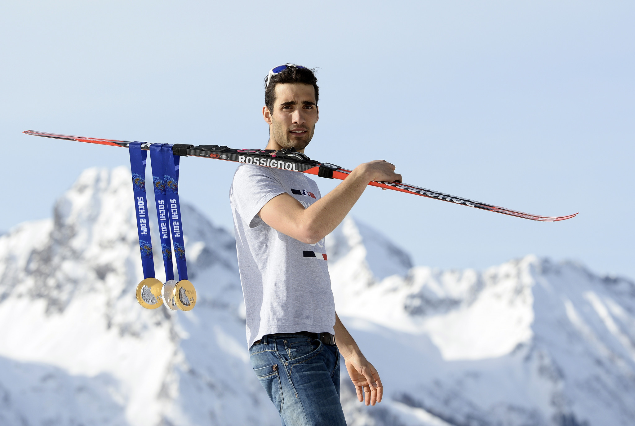 Martin Fourcade won three medals at Sochi 2014, including two golds ©Getty Images
