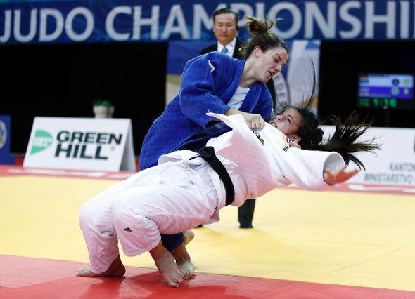 Croatia's Karla Prodan defeated top seed Alina Boehm in the girl's under 70kg final ©IJF