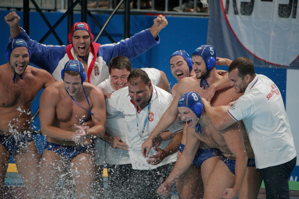Serbia convincingly defeated the Olympic champions Croatia in the men's water polo final