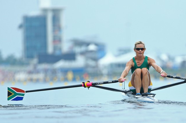 South Africa's Kirsten McCann was an assured world semi-final winner in the lightweight women's single sculls in Florida  ©World Rowing