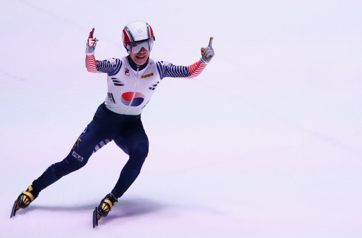South Korea's world champion Seo Yi Ra progressed smoothly through his 1,500m heat on the opening day of the ISU Short Track World Cup event in Budapest ©Getty Images